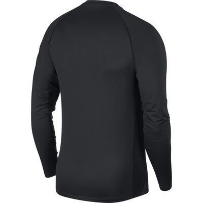 Men's Long Sleeve Slim Fit Top, Black, large