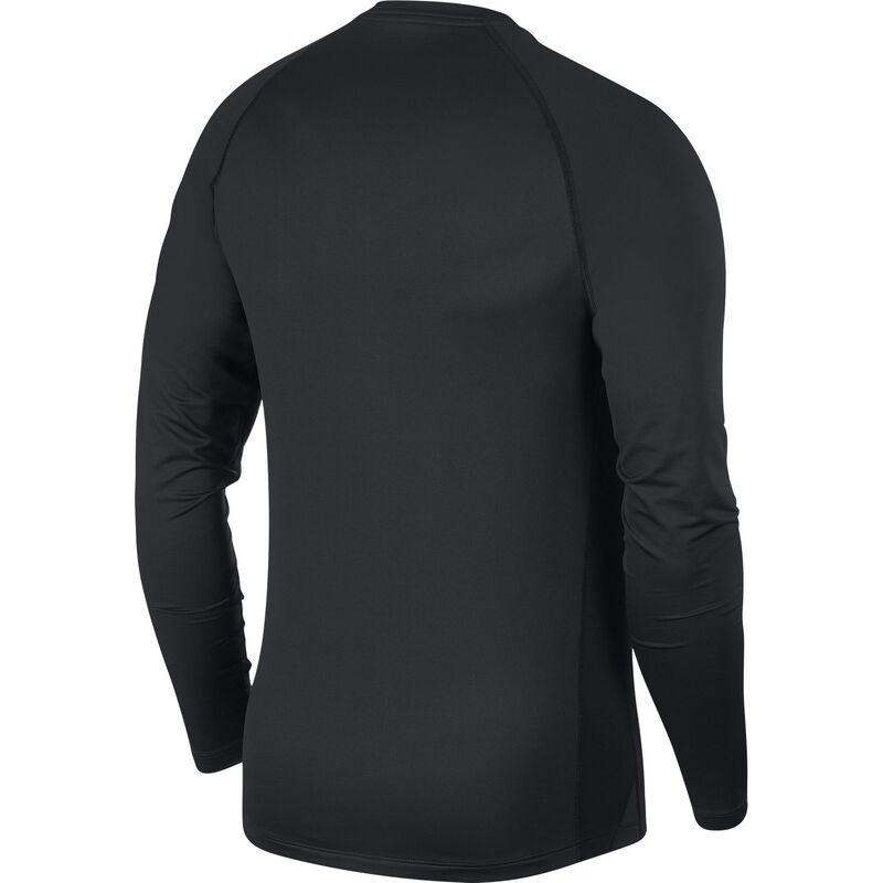 Men's Long Sleeve Slim Fit Top, Black, large image number 1