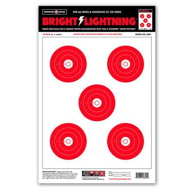 "Thompson Center Large Bright Lightning 12.5""x19"" Targets 10 Pack"
