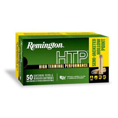 Remington HTP .38 SPL +P 125GR SJHP Ammunition