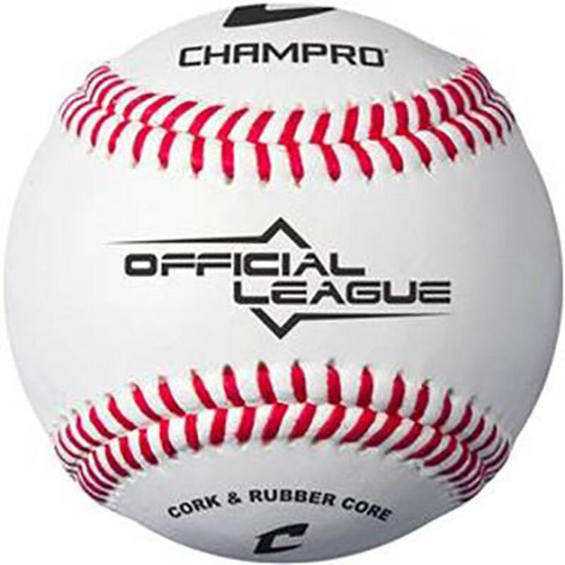 12U 6 Pack Official League Baseballs, , large image number 0