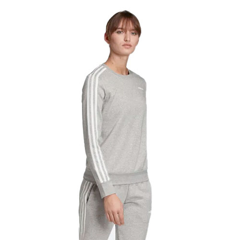 Women's Essentials 3-stripes Hoodie, Heather Gray, large image number 0