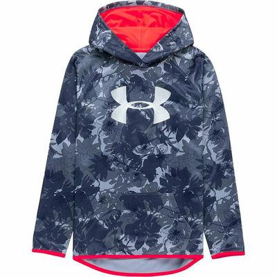 Under Armour Girls' Armour Fleece Novelty Big Logo Hoodie