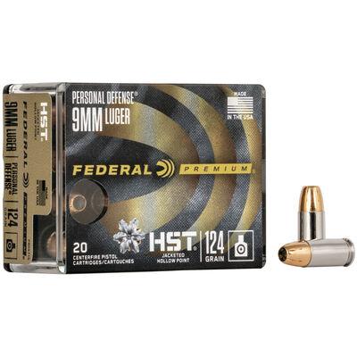 Federal 9MM HST 124GR Ammunition