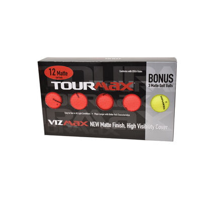 Tour Max Vizmax Red Golf Balls with Bonus Sleeve - 12-Pack