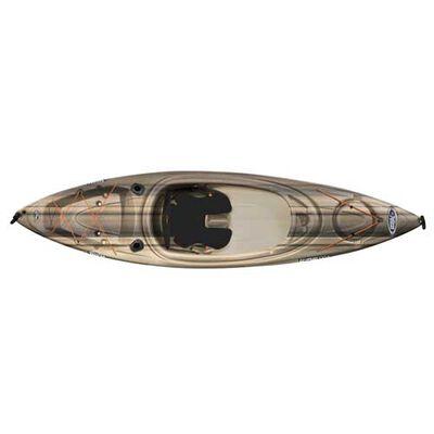 Rise 100X Sit-In Angler Kayak, Black/Brown, large