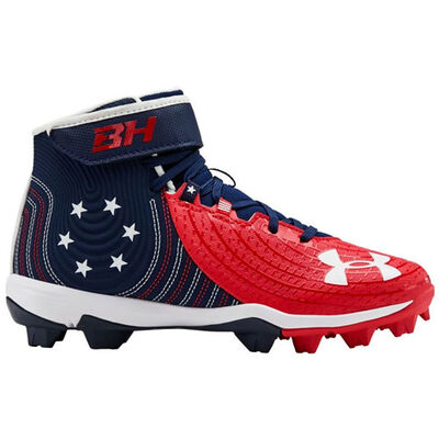 Under Armour Youth Harper 4 Mid Rubber Molded LE Baseball Cleats