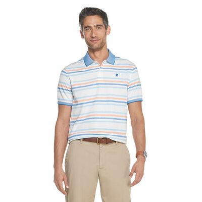 Izod Men's Advantage Performance Striped Short Sleeve Polo