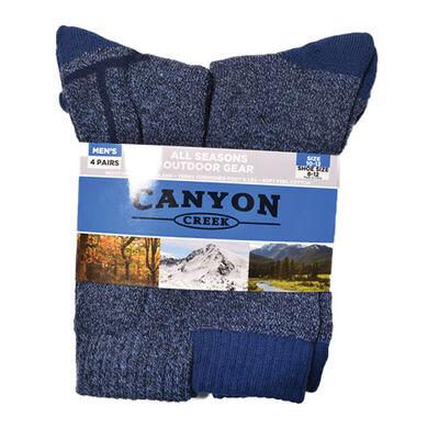 Canyon Creek Men's 4 Pack All Season Denim Socks