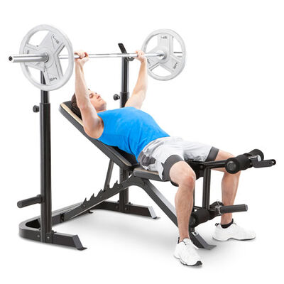 Marcy Olympic Weight Bench with Squat Rack and Leg Developer