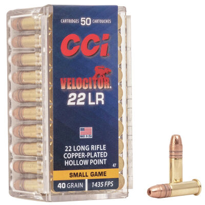 CCI .22LR Velocitor 40GR Ammunition