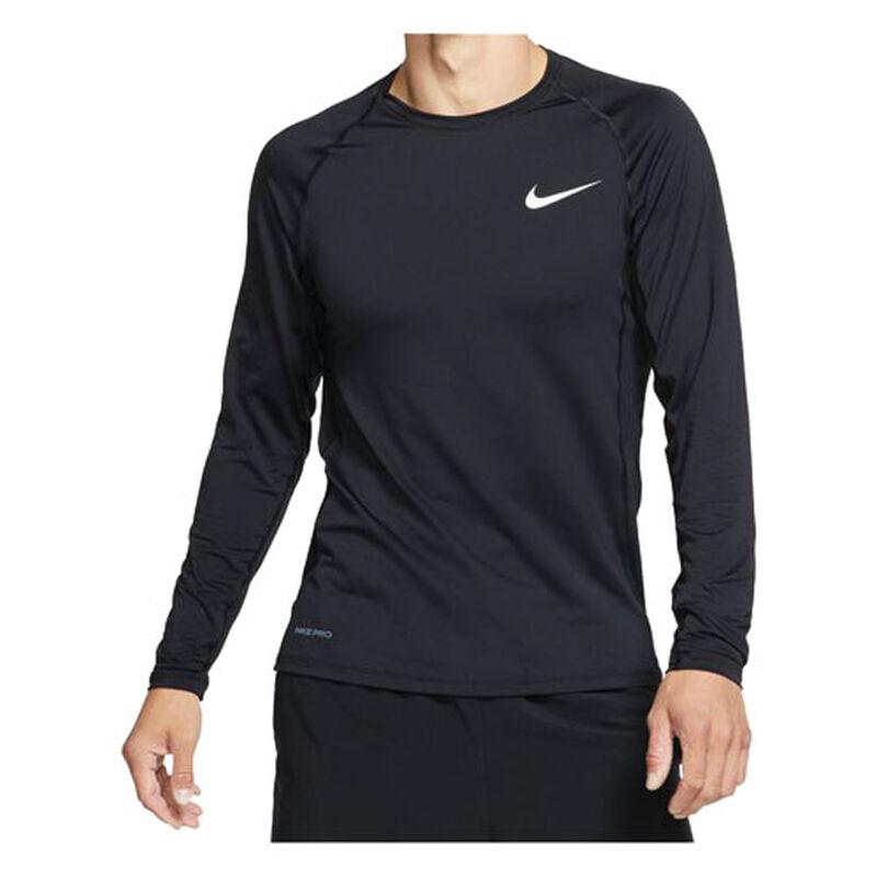 Men's Long Sleeve Slim Fit Top, Black, large image number 0