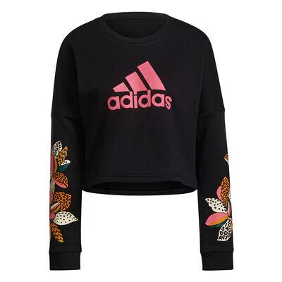 Women's Farm Graphic Sweatshirt, Black, large