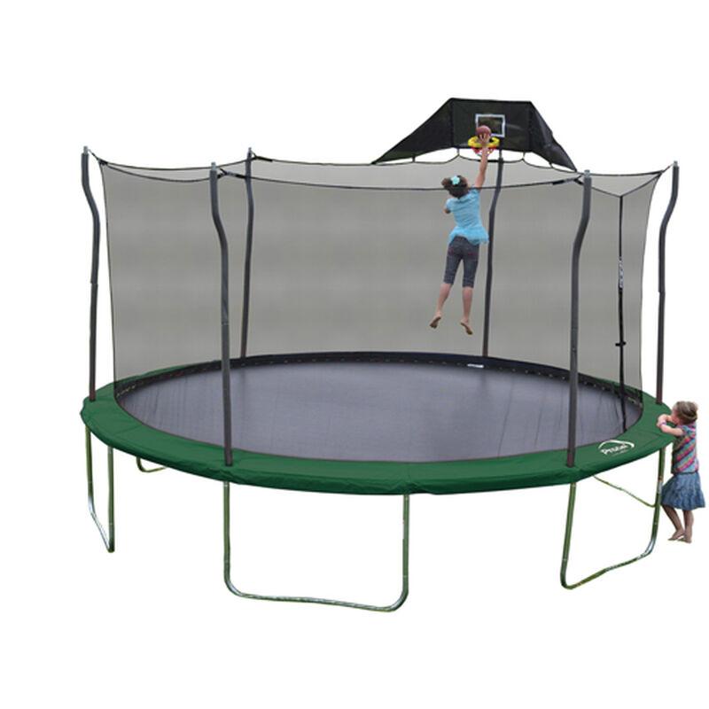 15' Trampoline Bundle With Hoop And Fun Enclosure, , large image number 0