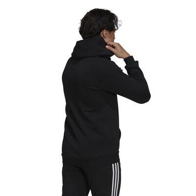 Men's Essentials Fleece Camo-Print Hoodie, Black, large
