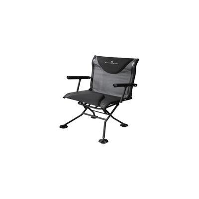 Black Sierra Deluxe Swivel Arm Chair