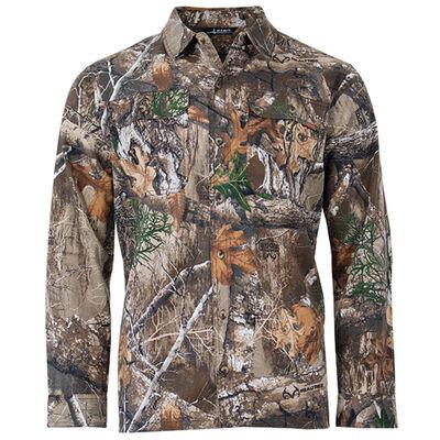 Men's Long Sleeve Hooded Shirt, , large