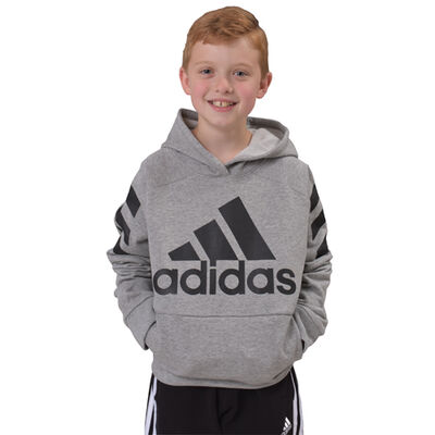 adidas Boys' Long Sleeve Block Pullover Hoodie