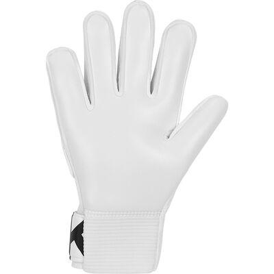 Goalkeeper Junior Match Goalie Glove, White/Black, large