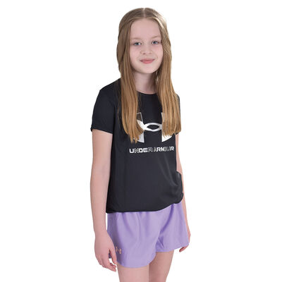 Girls' Short Sleeve Graphic Tee, Black, large