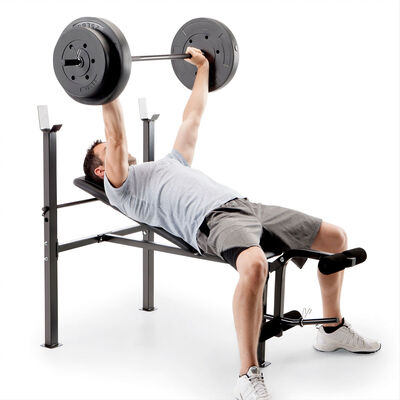Bench With 80lb Weight Set, , large
