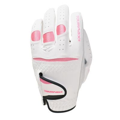Ladies Tourmax White Left Hand Golf Gloves, , large