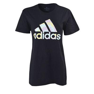 adidas Women's Tie Dye Logo Short Sleeve Tee