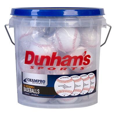 Champro Dunham's 24-pk Baseballs with Coach's Bucket