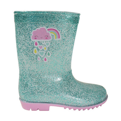 Girls' Glitter Rainboot