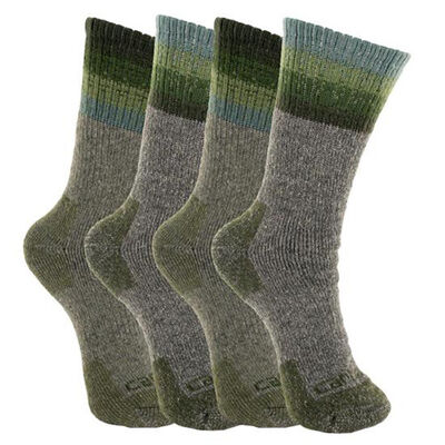 Carhartt Women's Wool Blend Socks 4-Pack