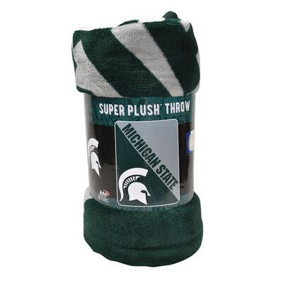 Michigan State Micro Raschel Throw Blanket, , large