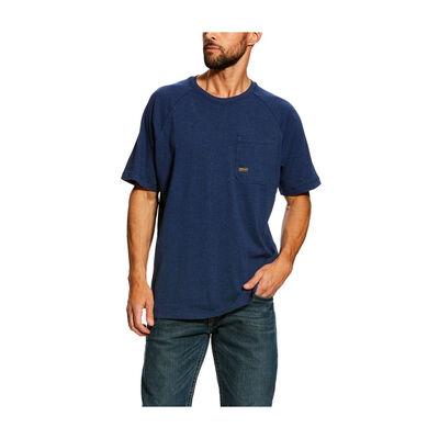 Ariat Men's Rebar CottonStrong Navy Short Sleeve T-Shirt