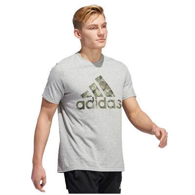 adidas Men's Camo Logo Short Sleeve Tee