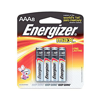 Energizer Max AAA Batteries 8-Pack