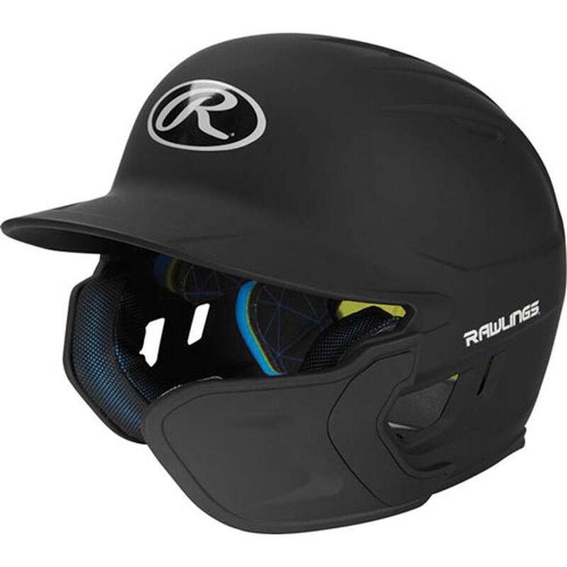 Junior MACH Matte Right-handed Batting Helmet, Black, large image number 1