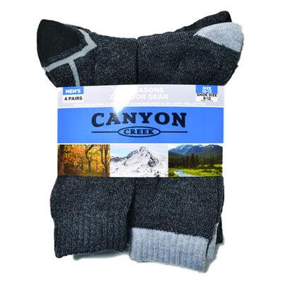 Canyon Creek Men's All Season Socks 4-Pack