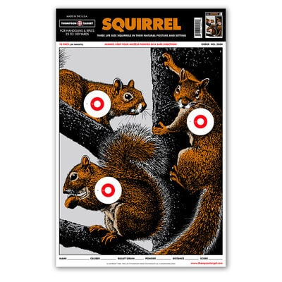 """Thompson Center Large Squirrel 12.5""""x19"""" Targets 10 Pack"""