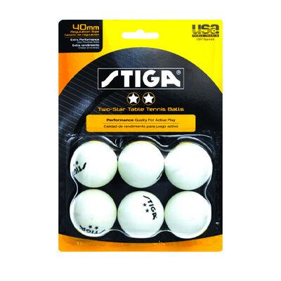 Stiga 2 Star Balls 6 Pack