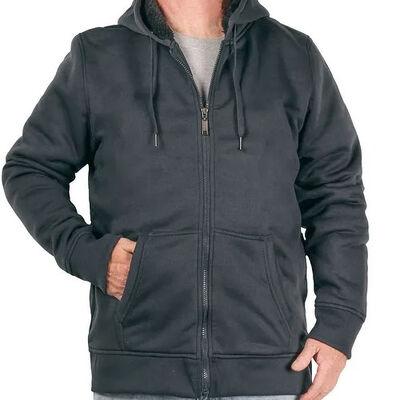 Uslife Men's Full Zip Sherpa Hoodie