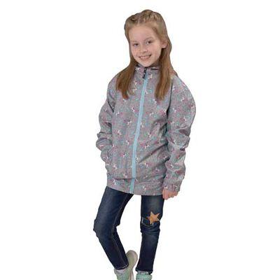 I5 Girls' Grey Unicorn Jacket