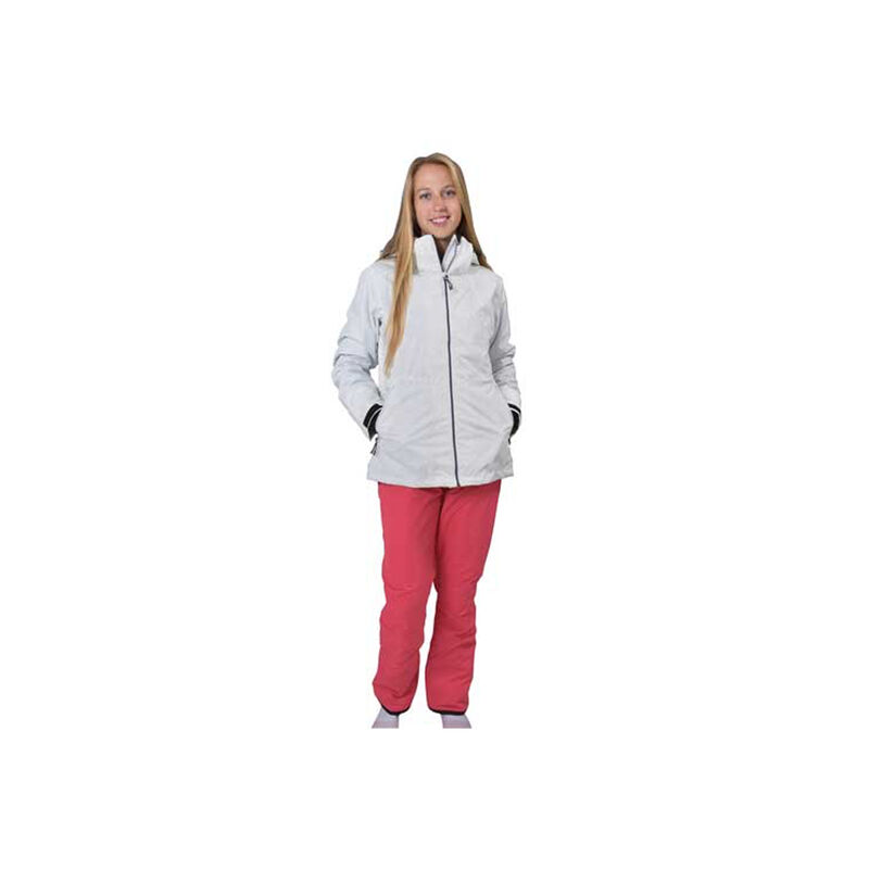 Women's Ivy 3 In 1 System Ski Jacket, White, large image number 1