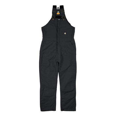 Deluxe Insulated Bib Overalls, Black, large