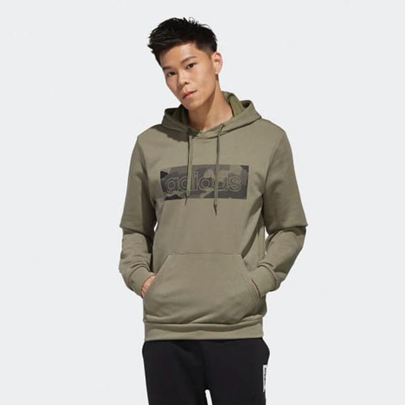 Men's Camo Box Fleece Hoodie, Dkgreen,Moss,Olive,Forest, large image number 0