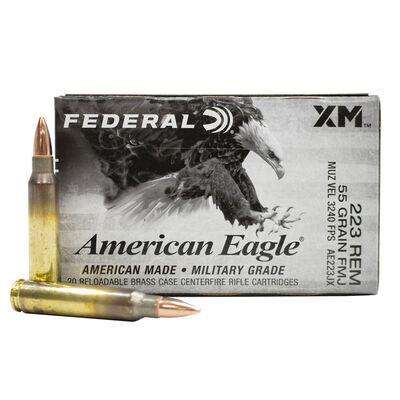 Federal 223 REM 55GR FMJ Ammunition