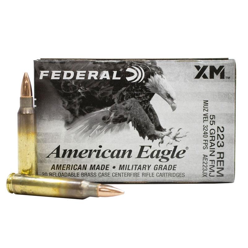 223 REM 55GR FMJ Ammunition, , large image number 0
