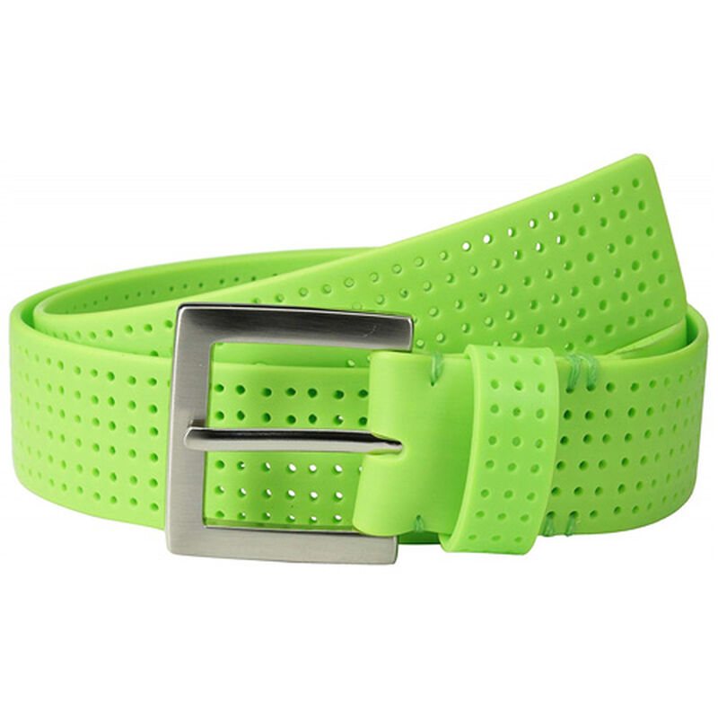 Men's Perforated Fashion Color Silicone Belt, , large image number 0