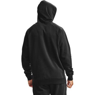 Men's Rival Fleece Hoodie, Black, large
