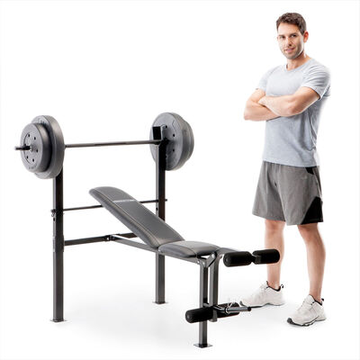 Competitor Bench With 80lb Weight Set