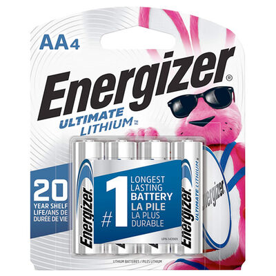 Energizer Lithium AA Batteries 4-Pack