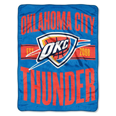 Northwest Co Oklahoma City Thunder Micro Raschel Throw Blanket